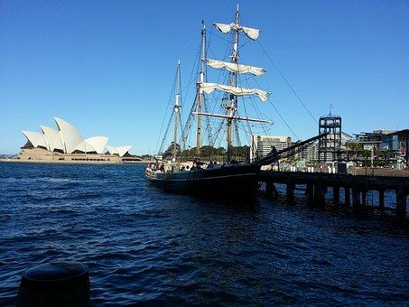 Opera House, Sydney, Ship, Sail