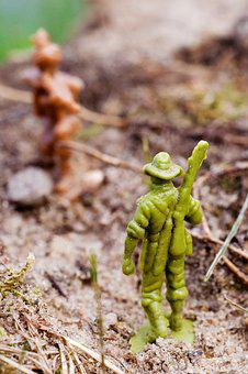 Plastic, Soldiers, Toys, Garden, Game Characters