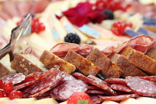 Salami, Buffet, Snack, Bread, Speck