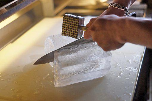 Ice, Chopper, Hammer, Hands, Technology, Crushed Ice
