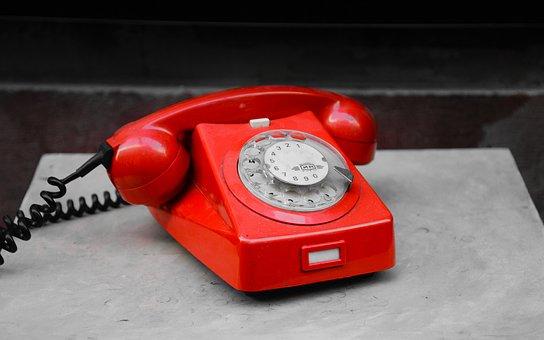 Red, Phone, Alarm, Telephone, Communication, Call