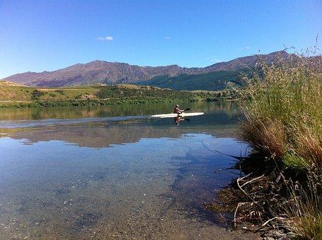 Kayak, Tranquil, Water, Kayaking, Nature, Boat