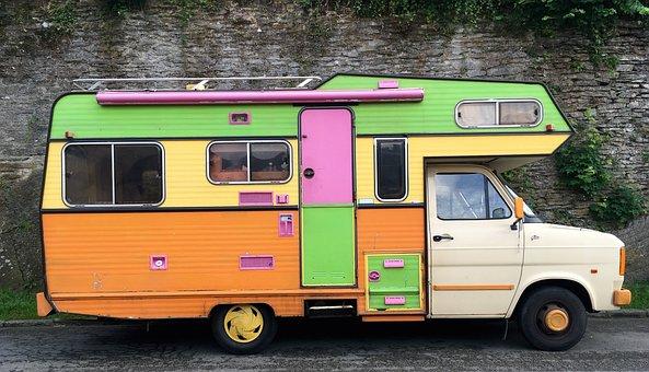 Vintage, Camping Car, Holiday, Road