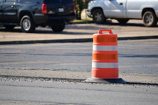 Traffic, Barrel, Orange, Construction, Road, Highway
