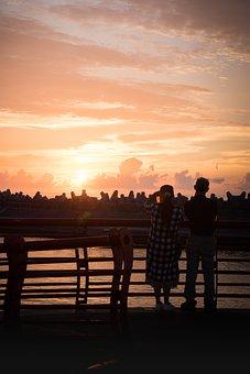 Sunrise, Taiwan, Hualien, Breakwater, View