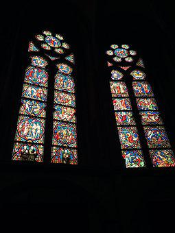 Cathedral, Stained Glass, Brussels