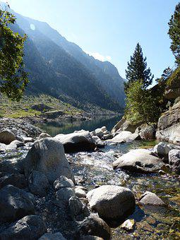 Mountain River, Purity, Pyrenees, Hiking, Clear Water