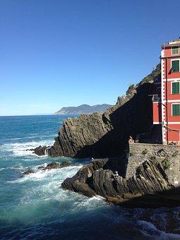 Sea, Liguria, Cinque Terre, Colors, Sun, Water, Italy
