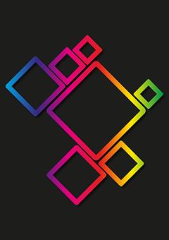 Square, Background, Diamond, Rhombus, Colour, Compound