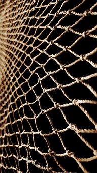 Net, Fishnet, Fishing-net, Dark, Tool, Brown Fish