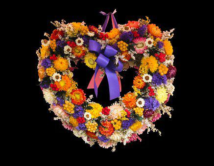 Flowers, Arrangement, Heart, Autumn, Autumn Gesteck