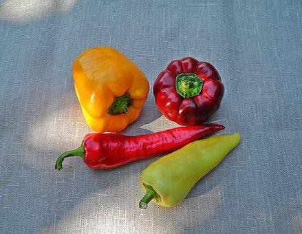 Pepper, Vegetables, Red, Yellow, Food, Plant, Fresh