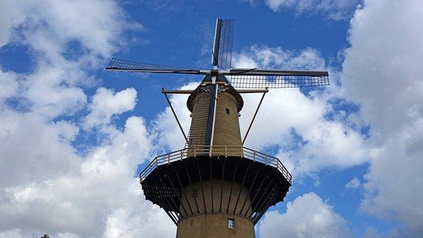 Mill, Wind Mill, Grain Mill, Brandersmolen