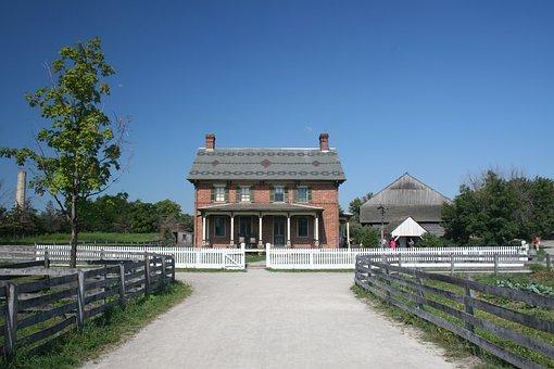Old, House, Farm, Farm House, Home, Fence, Rural