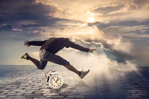 Man, Jump, Alarm Clock, About Alarm Clock Jump, Time
