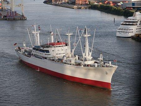 Port, Hamburg, Museum Ship, Cap San Diego