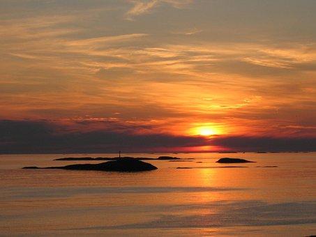 Sunset, Sea, Atlanterhavsveien, Norway