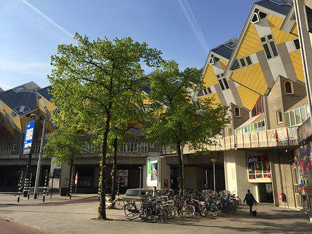 Rotterdam, Houses, Architecture, Building, Cube, Live