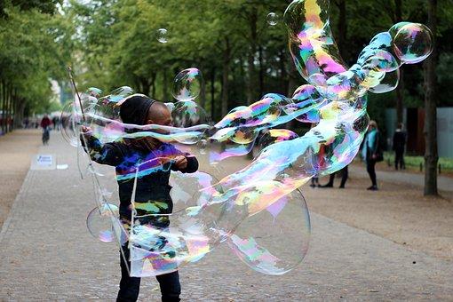 Street Artists, Soap Bubbles, Berlin
