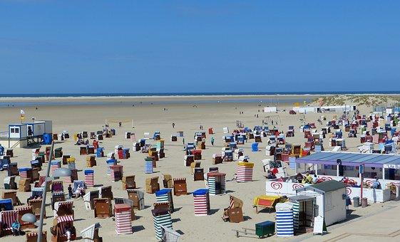 Beach, Clubs, Summer, Sun, Sea, Borkum