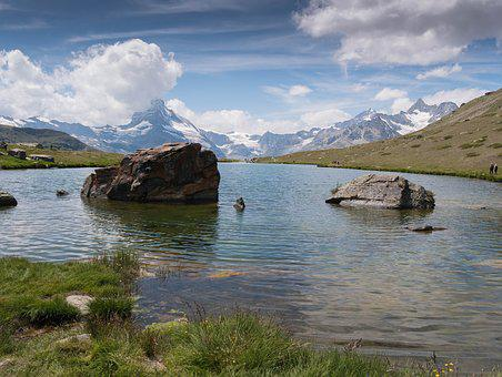 Zermatt, The Stellisee, Matterhorn