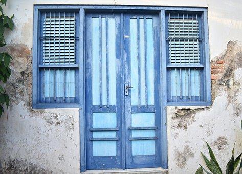 Door, Closed, Vintage, Doorway, Entrance, House, Gate