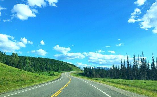 Alberta, Road, Canada, Nature, Landscape, Park, Travel