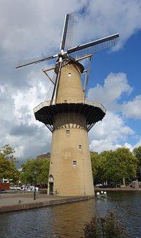 Mill, Grain Mill, Wind Mill, Mill Blades, Blue Sky