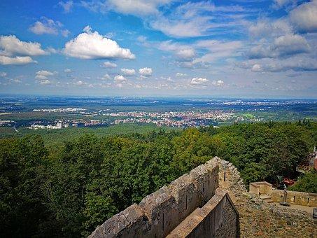 Castle, Frankenstein, Mühltal, Darmstadt, Hesse