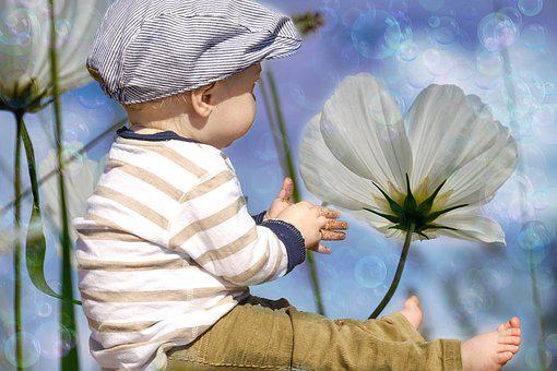 Small Child, Flowers, Child, Small, Foot, Legs, Cute