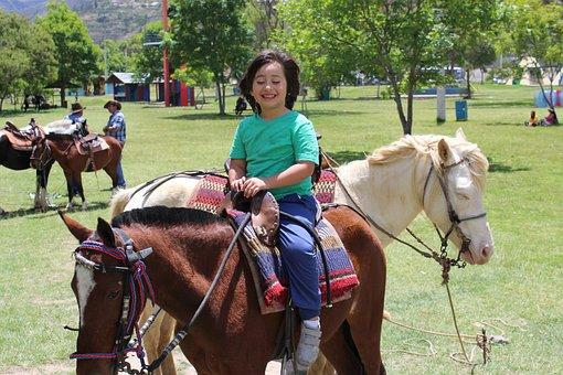 Boy, Horse, Happiness, Childhood, Farm, Summer