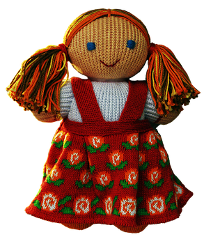 Doll, Cloth Figure, Costume, Folklore, Clothing