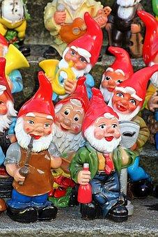Garden Gnomes, Dwarfs, Funny, Garden, Decoration