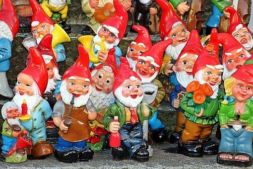 Garden Gnomes, Garden, Dwarfs, Figure, Decoration