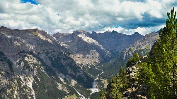Panorama, Mountain, View, Grand, Splendid, Gigantic