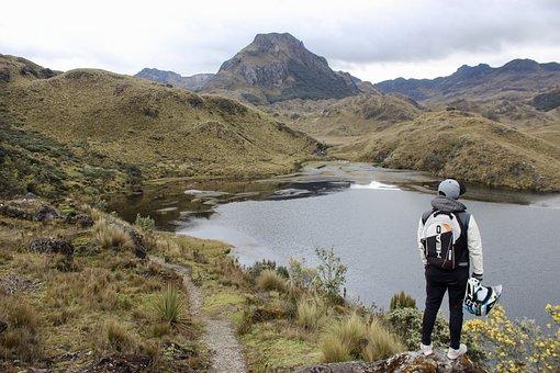 Lake, Helmet, Motorcycle, Travel, Nature, Outdoor