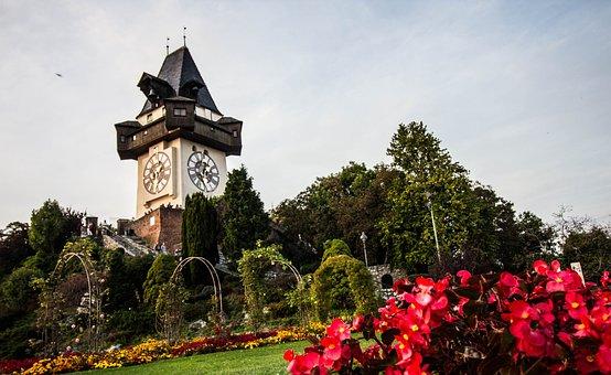 Graz, Clock Tower, Styria, Landmark, Austria