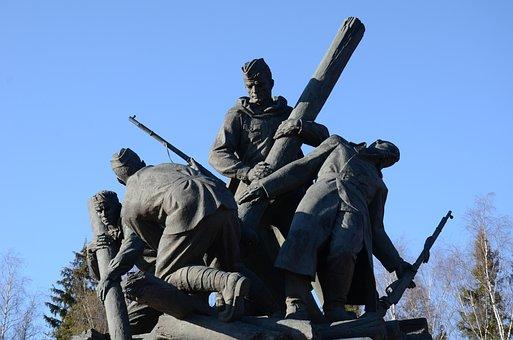 Monument, Memorial, War, 71 Km Of The Minsk Highway