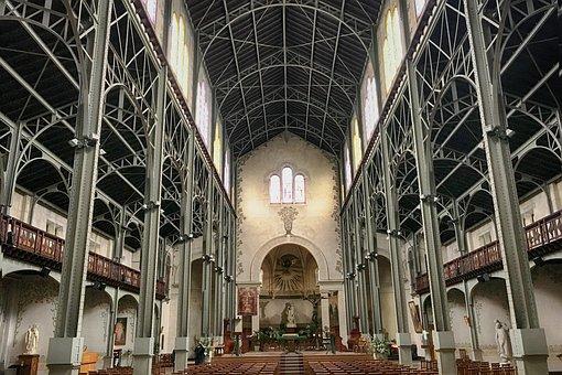 Church, Steel, Paris, Notre-dame-du-travail, 14