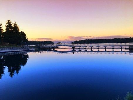 Nanaimo, Ocean, Sunset, Trees, Park, Vancouver Island