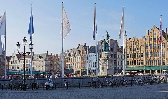 Bruges, Old Market, Stadtmitte, Centrum, Townhouses