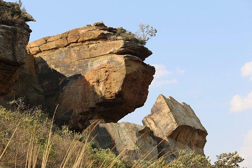 Travel, Clarens Sa, Mountain, Rocks, Hiking, Geological