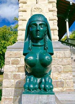 Sphynx Female, Lille, Pont Napoleon, Bronze, Egypt