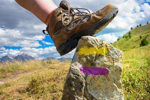 Shoe, Hiking, Markup, Mountain, Mark, Sport, Path, Ride