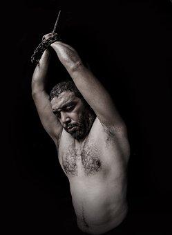 Torture, Chains, Portrait, Human, Victim, Freedom
