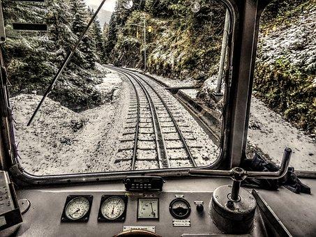 Rack, Cog Railway, Train, Cabin, Snow, Mountain Railway