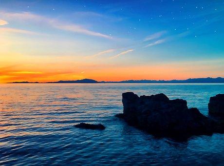 Sunrise, Sunrises, Horizon, Vancouver Island, Nanaimo