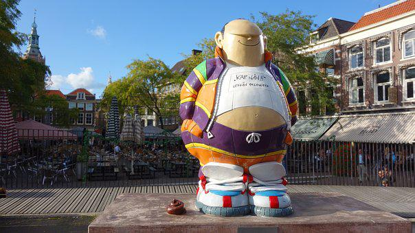 Statue, Cartoon Character, Haagse Harrie, The Hague