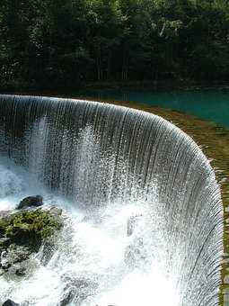 Water Fall, Forest, Clear, River