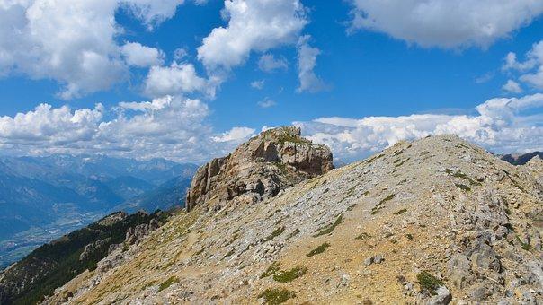 Summit, Crown, Crete, Mountain, Landscape, View, Pic